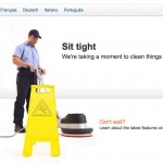 "LinkedIn.com's site maintenance screen, ""Sit Tight"""